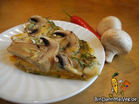 Mushroom Pumpkin Frittata.
