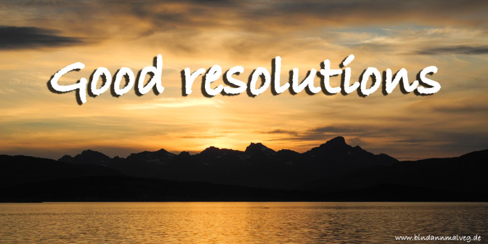 Coming back home: Good resolutions