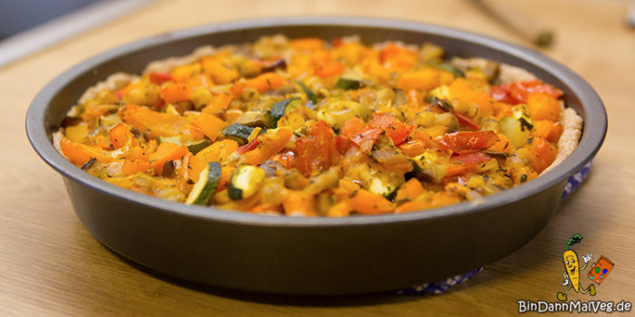 French Ratatouille Tarte (vegan)